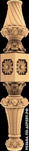 Резная балясина #10 из дерева