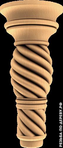 Резная балясина #138 из дерева