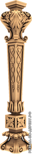 Резная балясина #16 из дерева