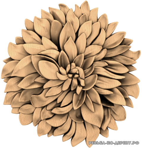 Резное панно Цветы №71