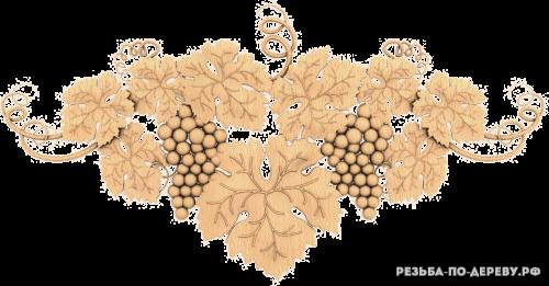 Резное панно Цветы №81