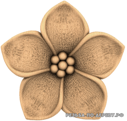 Резное панно Цветы №83