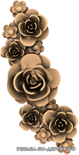 Резное панно Цветы №84