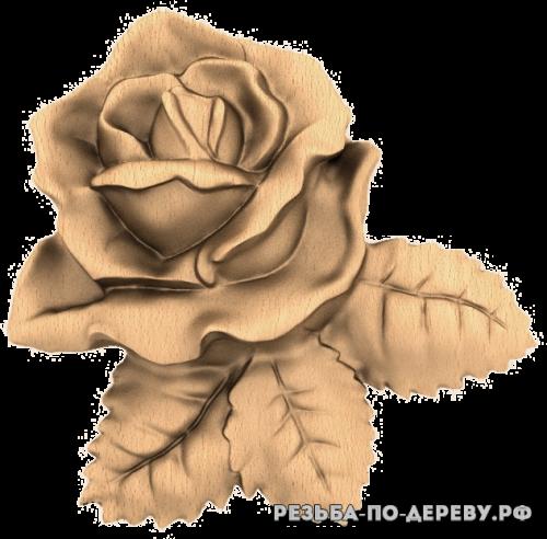 Резное панно Цветы №85