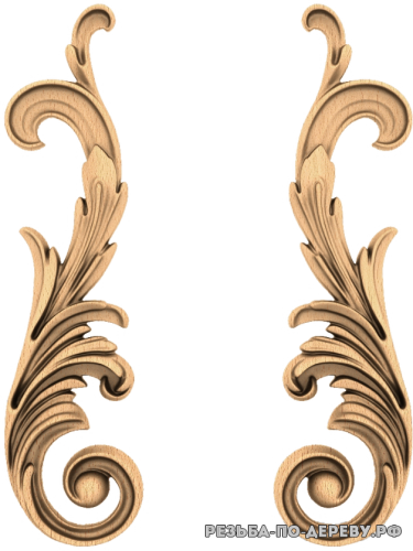 Резной Декор №1068 из дерева