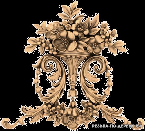 Резной Декор №1078 из дерева