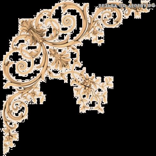 Угловой декор №53 из дерева