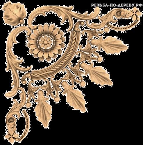 Угловой декор №43 из дерева