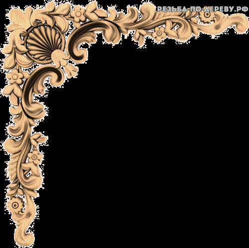 Угловой декор №44 из дерева