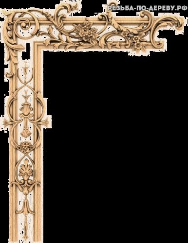 Угловой декор №54 из дерева