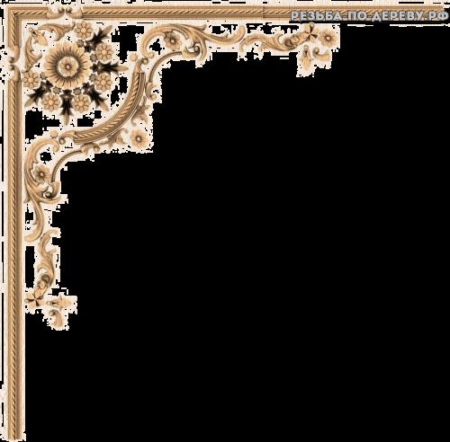 Угловой декор №45 из дерева