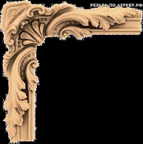 Угловой декор №55 из дерева