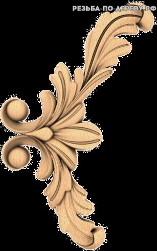 Угловой декор №46 из дерева