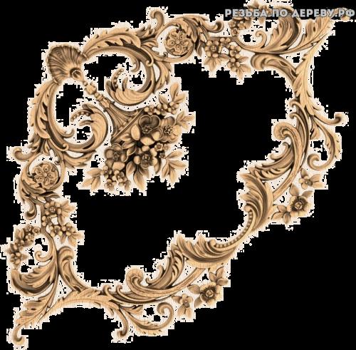 Угловой декор №56 из дерева