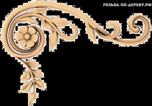 Угловой декор №36 из дерева