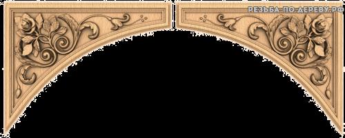 Угловой декор №47 из дерева