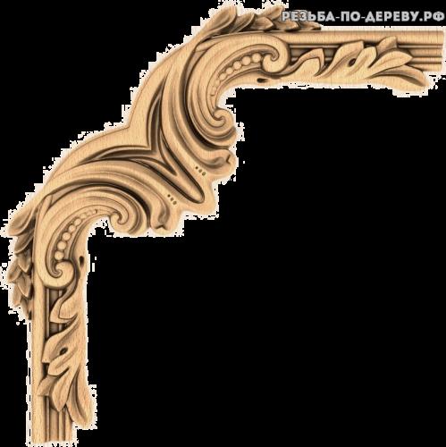 Угловой декор №57 из дерева