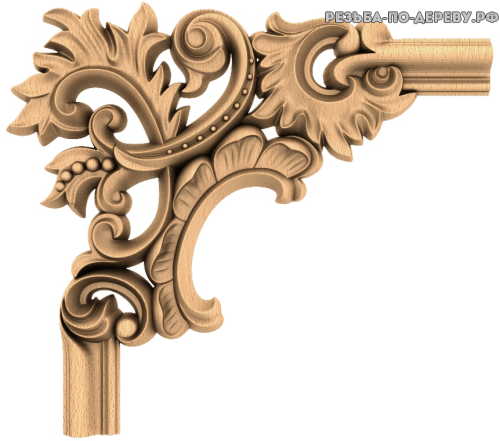 Угловой декор №68 из дерева