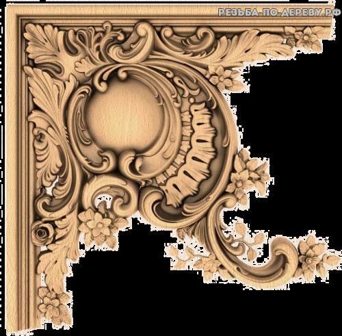 Угловой декор №48 из дерева