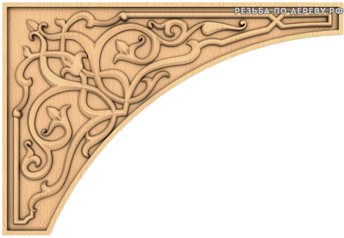 Угловой декор №38 из дерева