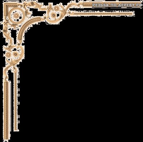 Угловой декор №79 из дерева