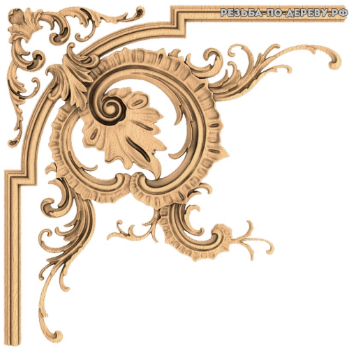 Угловой декор №49 из дерева
