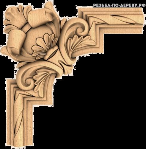 Угловой декор №39 из дерева
