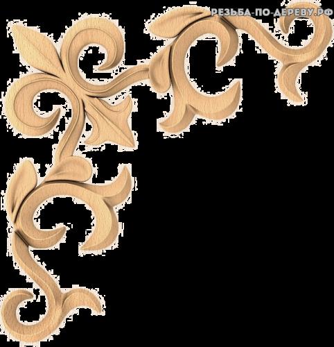 Угловой декор №30 из дерева