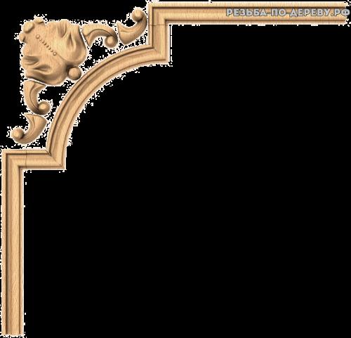 Угловой декор №40 из дерева