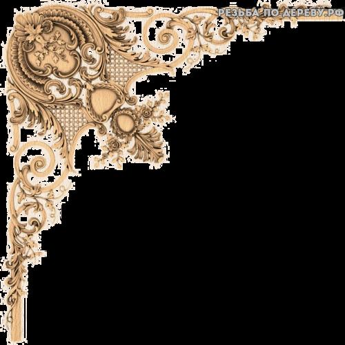 Угловой декор №50 из дерева