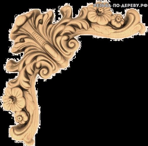 Угловой декор №51 из дерева