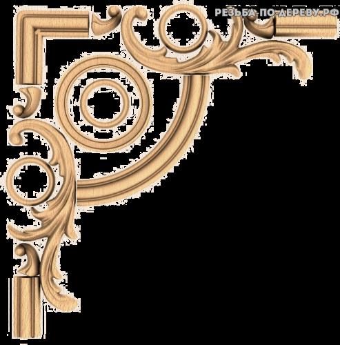 Угловой декор №41 из дерева