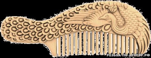 Резное панно Расчёска №3 из дерева