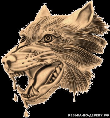 Голова волка (2) из дерева