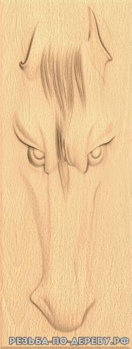 Резное панно Лошадь (8) из дерева