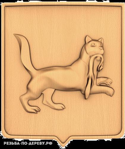 Герб Иркутска из дерева
