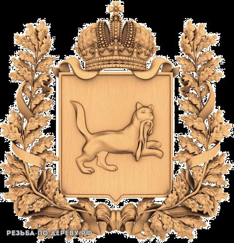Герб Иркутской Губернии из дерева