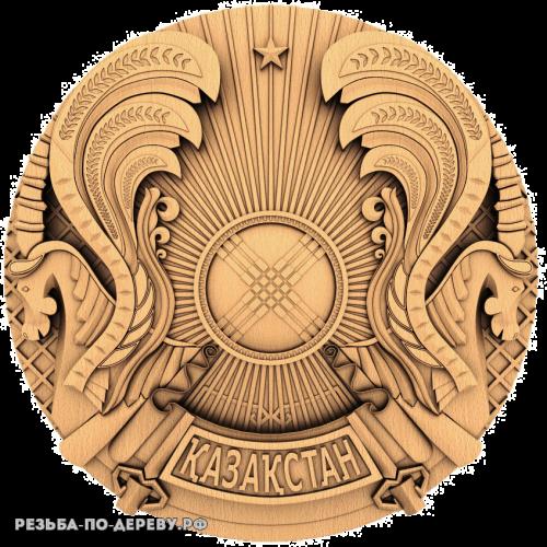 Герб Казахстана из дерева