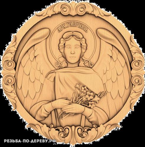 Резная икона Архангел Гавриил №2 из дерева