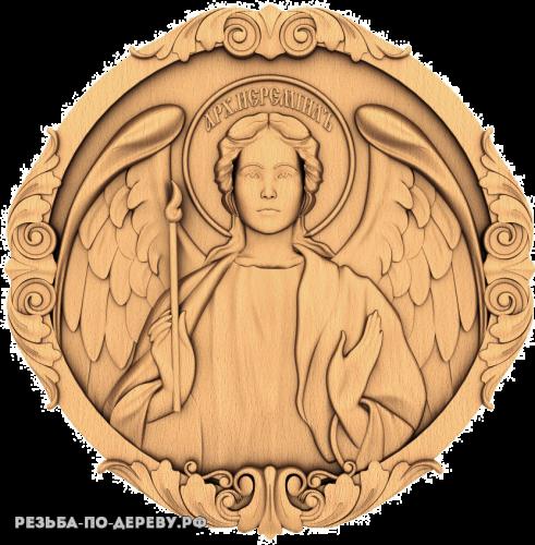 Резная икона Архангел Иеремиил из дерева