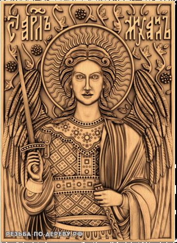Резная икона Архангел Михаил №7 из дерева