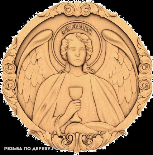 Резная икона Архангел Рафаил из дерева