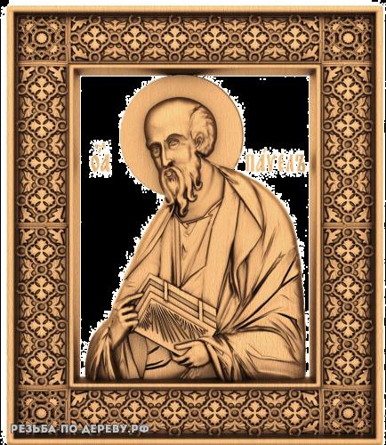 Резная икона Апостол Павел из дерева