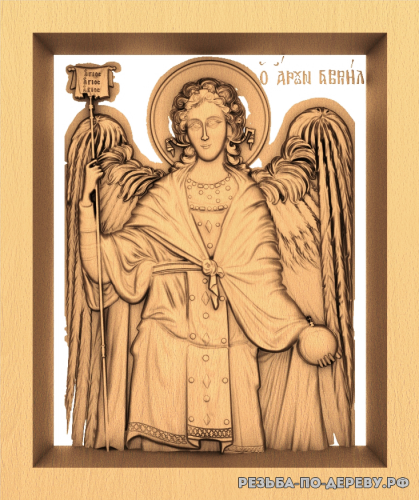 Резная икона Агиос из дерева