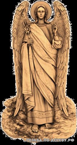 Резная икона Архангел Гавриил №4 из дерева