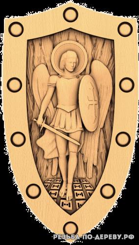 Резная икона Архангел Михаил №8 из дерева