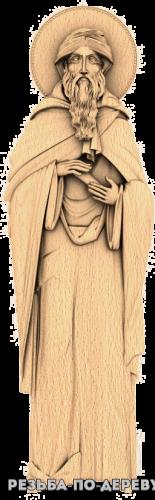 Резная икона Макарий Александрийский из дерева