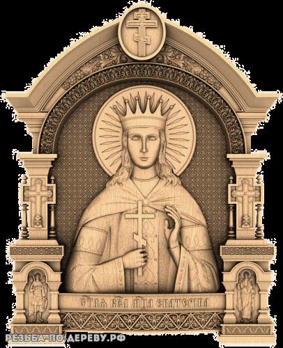 Резная икона Святая Великомученица Екатерина из дерева