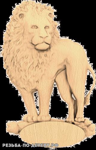 Лев Лёва из дерева