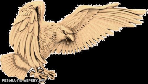 Орёл (14) из дерева
